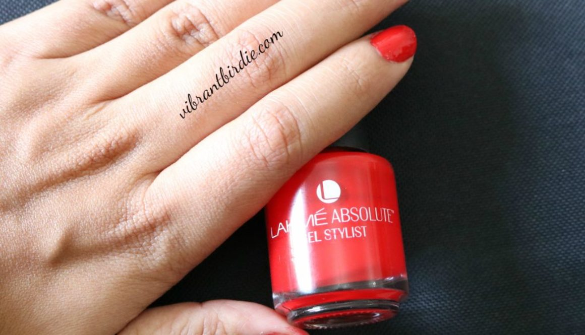 LAKME ABSOLUTE GEL STYLIST NAIL PAINT- TOMATO TANGO