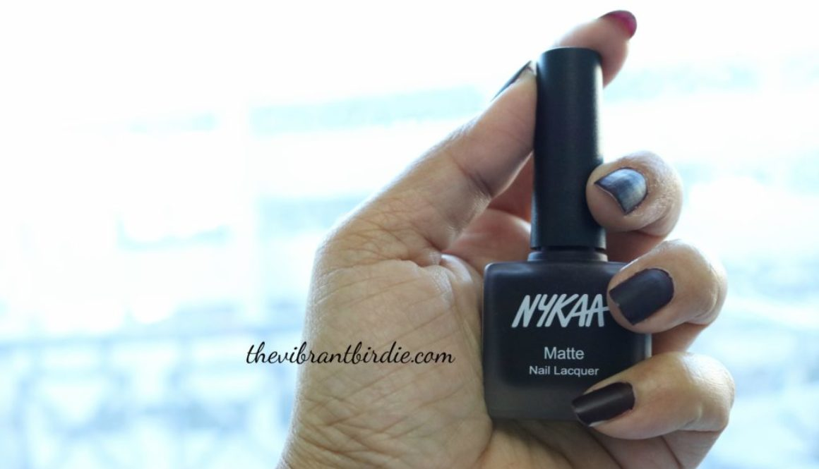 Nykaa Matte Nail Enamel in shade Black Cherry Pie- 08