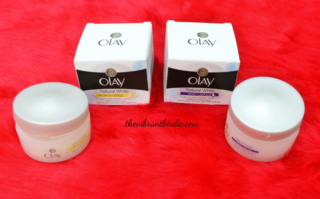 So, let's get started with this Olay Natural White day and night cream tour…