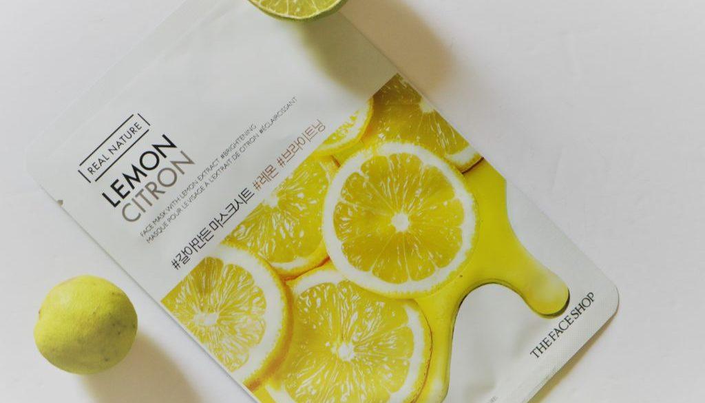 The Face Shop Real Nature Lemon Citron Sheet Mask- Review