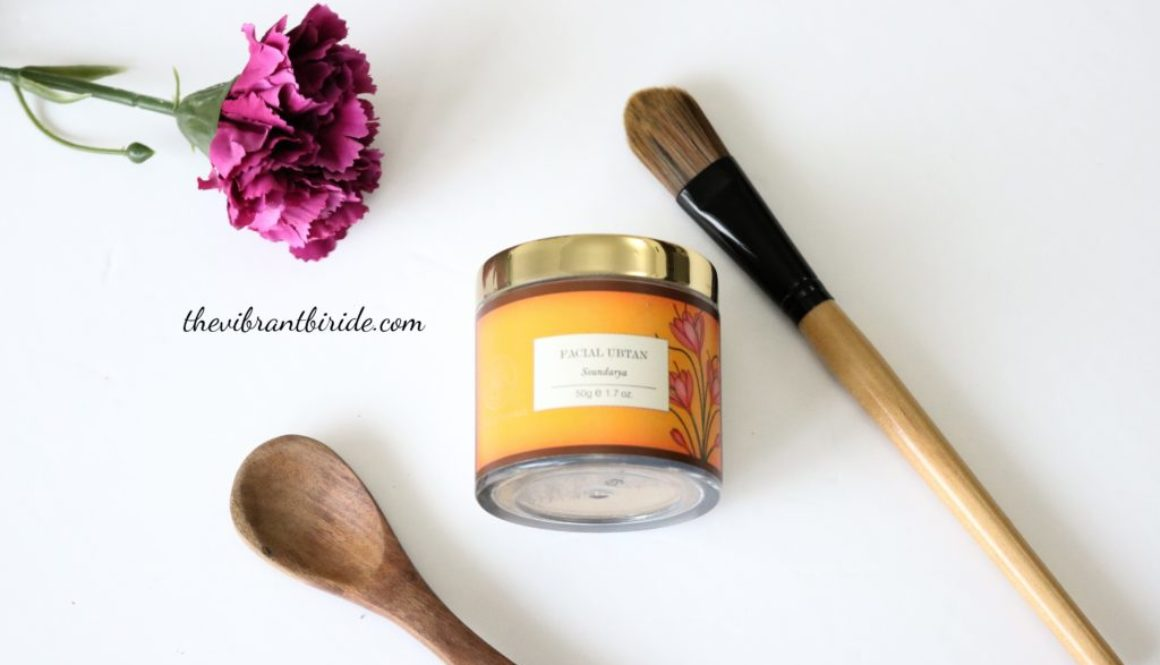 Facial Ubtan Soundarya Forest Essential Review and Swatches