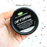 Lush Cosmetics- Cup O' Coffee- Face and Body Mask- Review