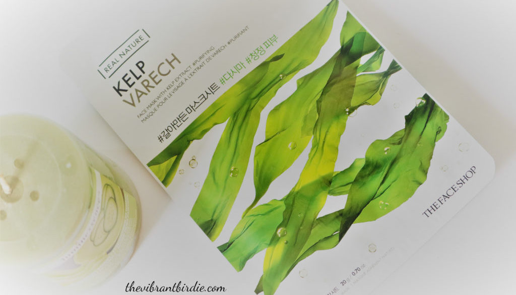 The Face Shop Real Nature Kelp Sheet Mask- Review and Swatches