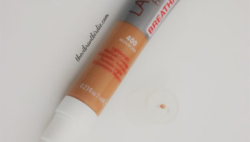 Rimmel London Lasting Finish 25 hr Breathable Concealer in shade 400 (medium dark) Review & Swatches