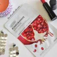 The Face Shop Real Nature Pomegranate Firming Sheet Mask- Reviews & Swatches