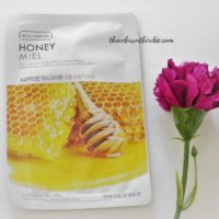 The Face Shop Real Nature Honey Moisturizing Sheet Mask- Reviews & Swatches