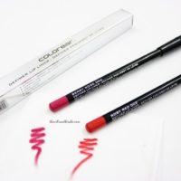 Colorbar Lip Definer in shade Rosy Red and Berry Rose- Review & Swatches