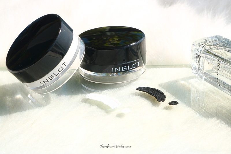 INGLOT AMC EYELINER GEL IN SHADE 76 (WHITE) & 77 (BLACK)- REVIEW & SWATCHES
